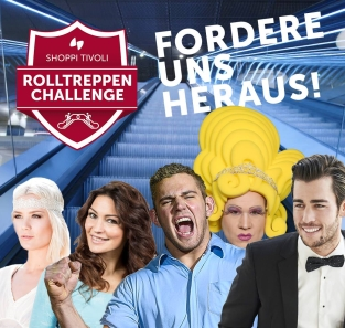 Rolltreppen-Rennen Shoppi-Tivoli